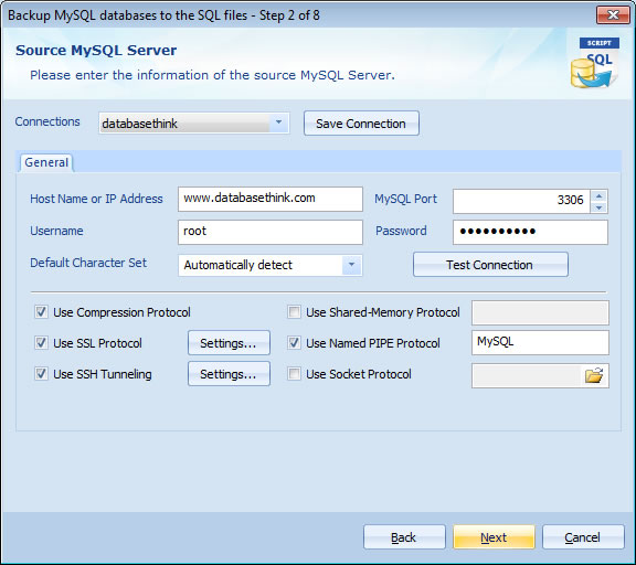 Source MySQL Server